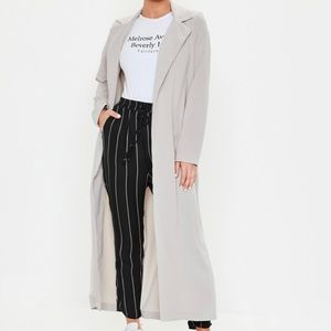 Missguided Gray Duster Jacket NWT Size 4